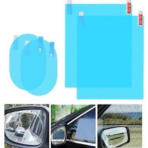 Bộ 4 miếng dán chống bám nước kính hông và gương chiếu hậu ô tô