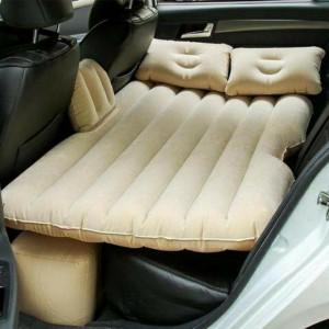 Đệm hơi chất liệu nhung cao cấp trên ô tô tặng kèm bơm điện và 2 gối