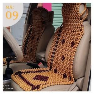 Lót ghế ô tô hạt gỗ thông đan hoa