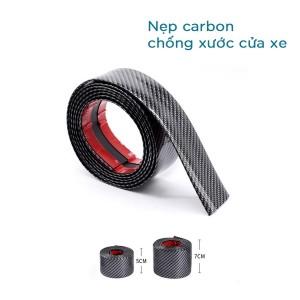 Nẹp Carbon Chống Trầy Xước Bậc Cửa Xe Hơi (5cm/ 7cm)